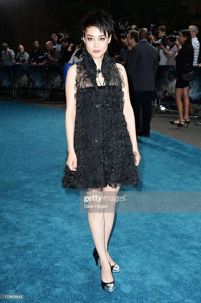 Rinko Kikuchi attends the European premiere of 'Pacific Rim' at The BFI IMAX on July 4, 2013 in London, England.