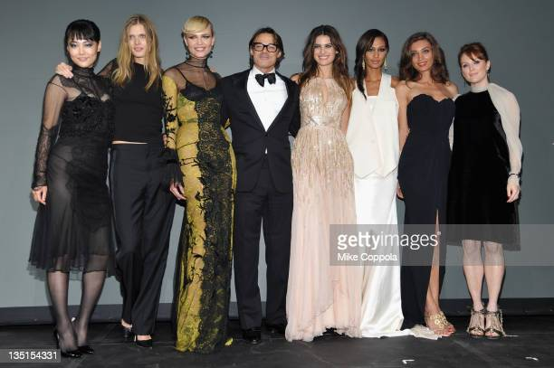 Rinko Kikuchi Malgosia Bela Natasha Poly Photographer Mario Sorrenti Isabeli Fontana Joan Smalls Margareth Made and Julianne Moore pose onstage at...