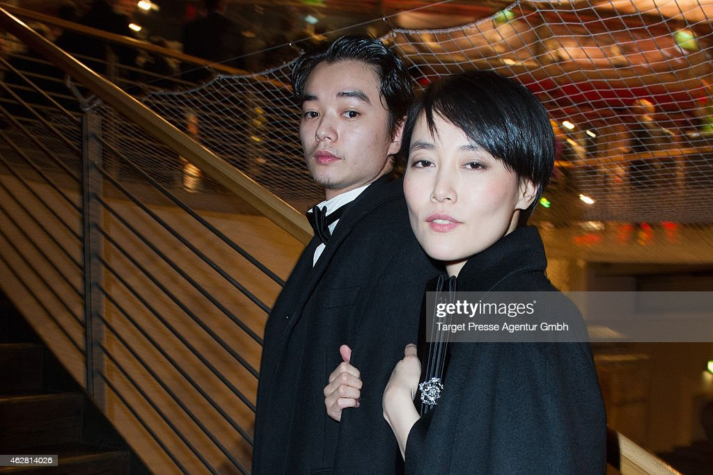 Rinko Kikuchio and her husband Shota Sometani attend the opening party during the 65th Berlinale International Film Festival at Berlinale Palace on...