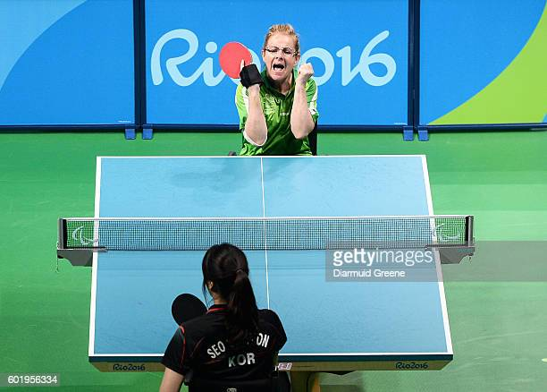 Rio Brazil 10 September 2016 Rena McCarron Rooney of Ireland celebrates after scoring a point during the SF1 2 Women's Singles Quarter Final against...