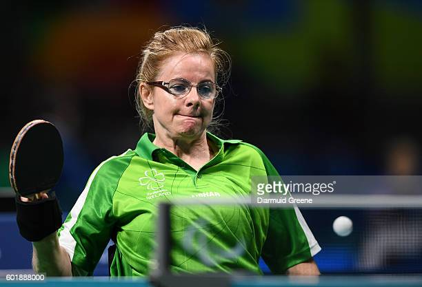 Rio Brazil 10 September 2016 Rena McCarron Rooney of Ireland in action during the SF1 2 Women's Singles Quarter Final against SuYeon Seo of Republic...
