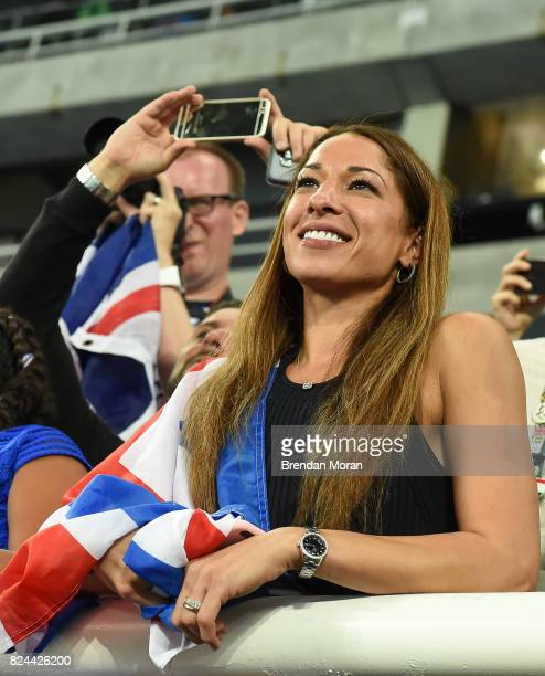 Rio Brazil 13 August 2016 Tania Nell wife of Mo Farah of Great Britain in the Olympic Stadium Maracanã during the 2016 Rio Summer Olympic Games in...