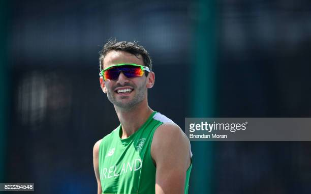 Rio Brazil 15 August 2016 Thomas Barr of Ireland after round 1 of the Men's 400m Hurdles in the Olympic Stadium during the 2016 Rio Summer Olympic...