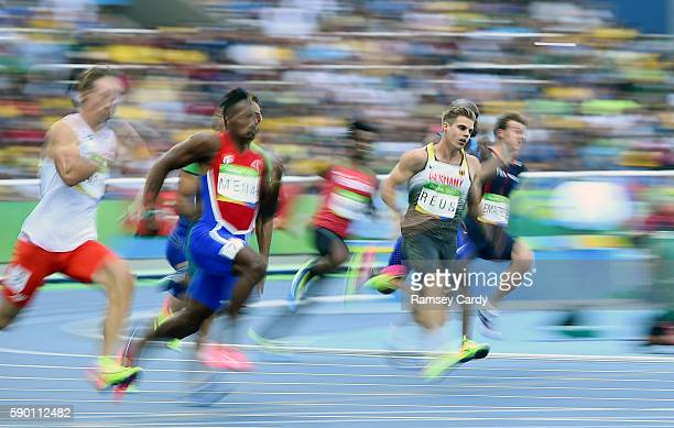 Rio Brazil 16 August 2016 Julian Reus of Germany in action during the Men's 200m Round 1 at the Olympic Stadium during the 2016 Rio Summer Olympic...