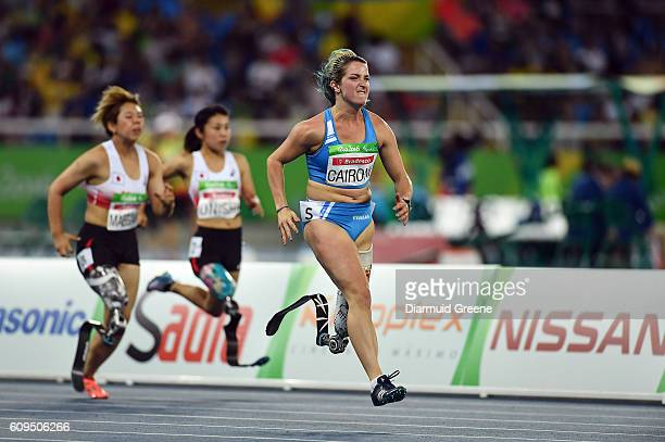 Rio Brazil 17 September 2016 Martina Caironi of Italy on her way to winning the Women's 100m T42 Final at the Olympic Stadium during the Rio 2016...