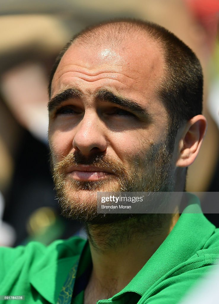 Rio Brazil 18 August 2016 Scott Evans of Ireland ahead of the Men's 400m hurdles final in the Olympic Stadium Maracanã during the 2016 Rio Summer...