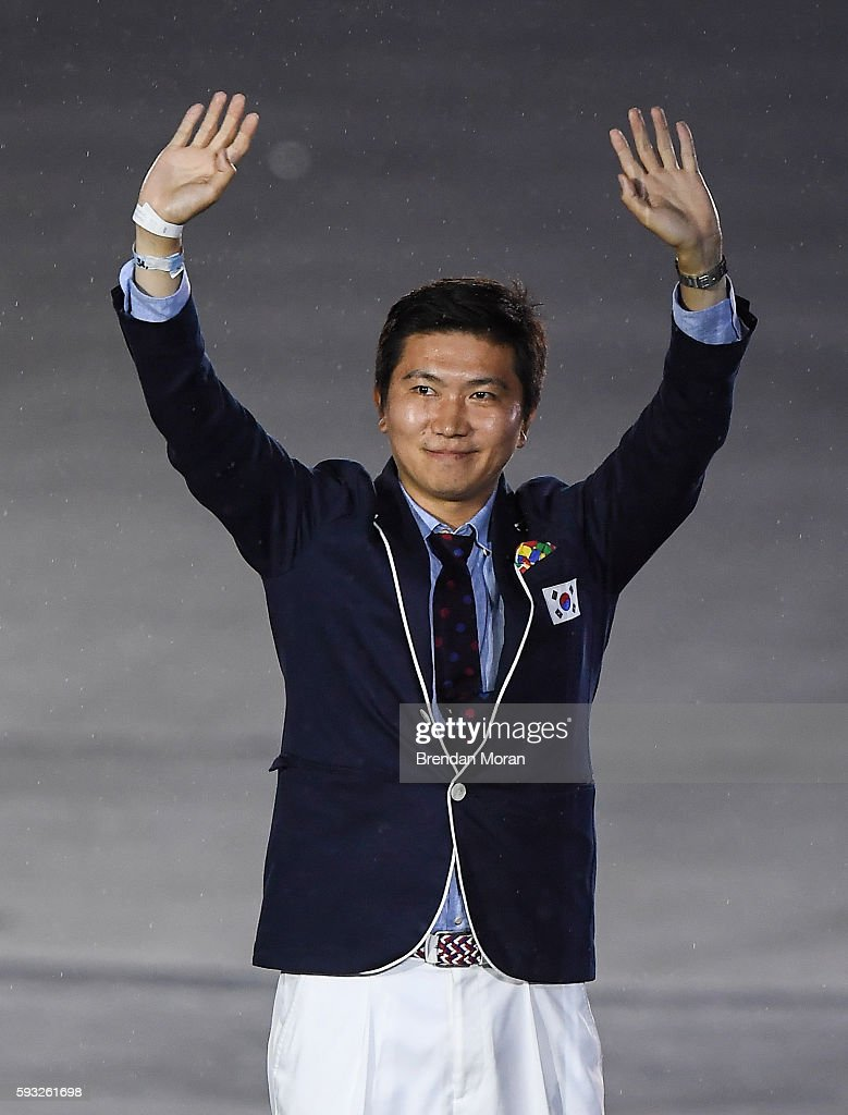 Rio , Brazil - 21 August 2016; Newly elected member of the IOC athlete's commission Ryu Seung-min of South Korea during the closing ceremony of the 2016 Rio Summer Olympic Games at the Maracanã Stadium in Rio de Janeiro, Brazil.