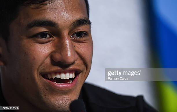 Rio Brazil 3 August 2016 Reiko Ioane of New Zealand during a press conference ahead of the Rugby Sevens competition at the 2016 Rio Summer Olympic...