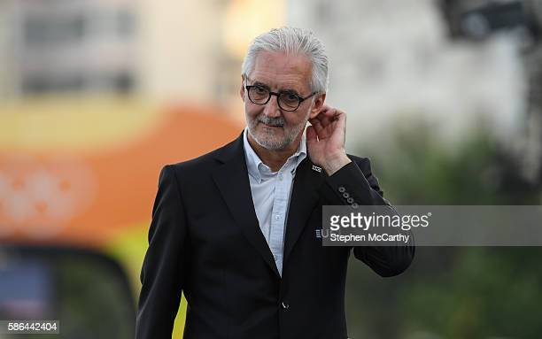 Rio Brazil 6 August 2016 UCI President Brian Cookson during the Men's Road Race during the 2016 Rio Summer Olympic Games in Rio de Janeiro Brazil