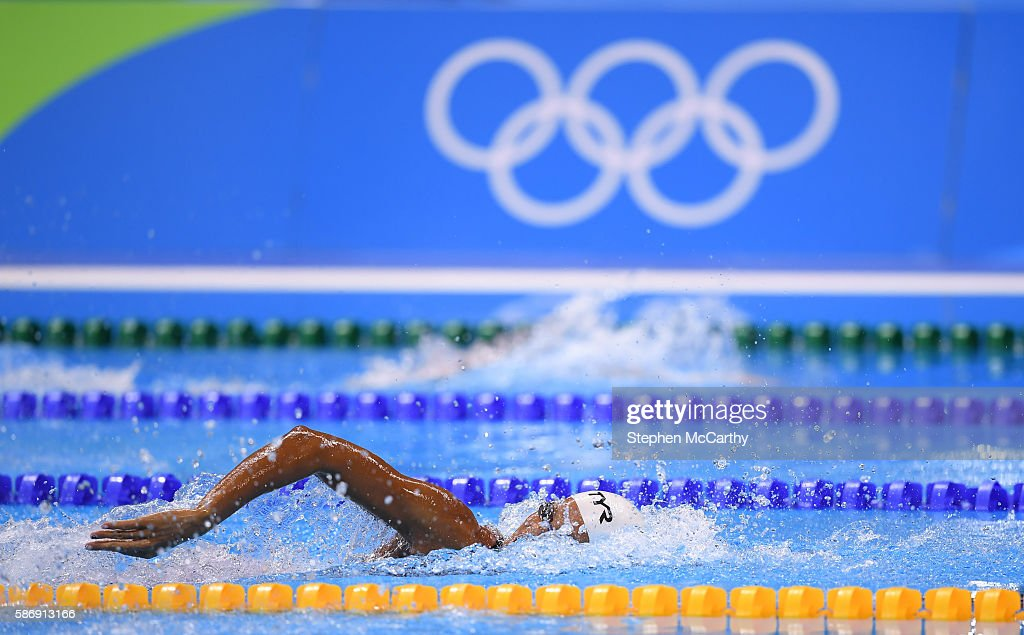 Rio Brazil 7 August 2016 Coralie Balmy of France competes in the heats of the women's 400m freestyle event at the Olympic Aquatic Stadium during the...