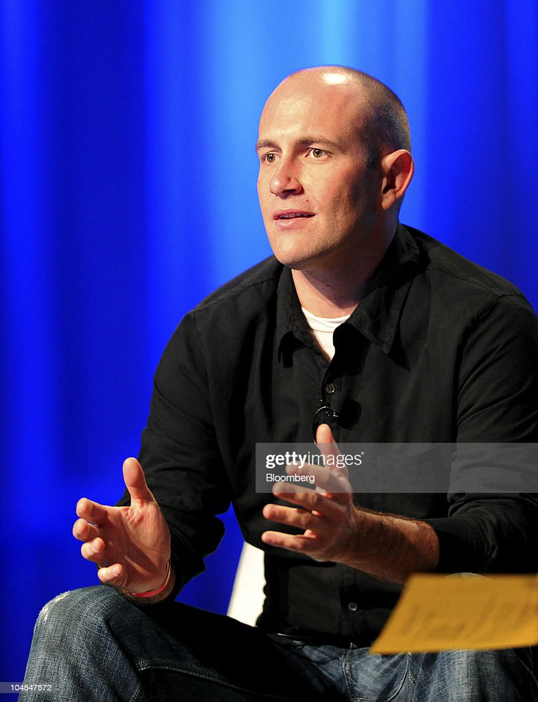 Rio Caraeff, chief executive officer of Vevo, an Internet music-video service co-owned by Universal Music Group, Sony Corp. and EMI Group Ltd., speaks at the TechCrunch Disrupt conference in San Francisco, California, U.S., on Wednesday, Sept. 29, 2010. The conference concludes today. Photographer: Noah Berger/Bloomberg via Getty Images