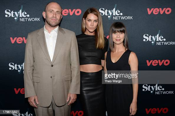 VEVO CEO Rio Caraeff model Erica Wasson and STYLE Network SVP of Marketing Nicole Sabatini attend the VEVO and Styled To Rock Celebration hosted by...
