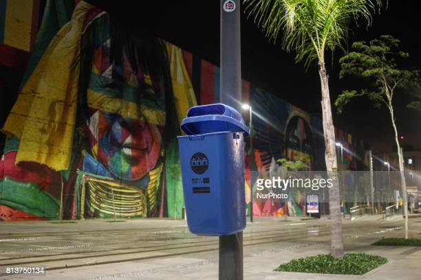 Just over a year after inauguration the Olympic Boulevard built for the Rio 2016 Olympic Games has structural flaws and sluices in the paving near...