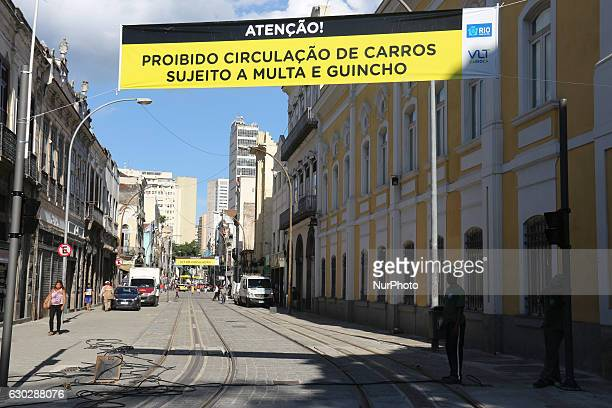 Rio de Janeiro Brazil December 19 2016 The VLT Carioca was one of the main legacies of the Rio 2016 Olympic Games but during the Olympic Games only...