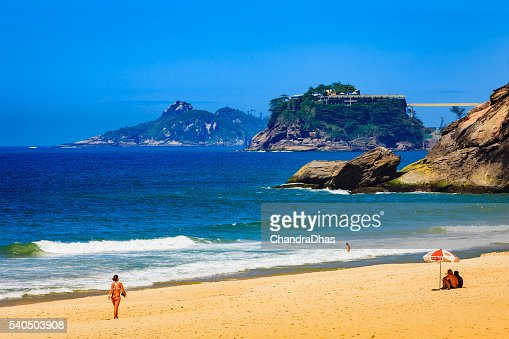 Rio de Janeiro, Brazil - Sao Conrado Beach on workday