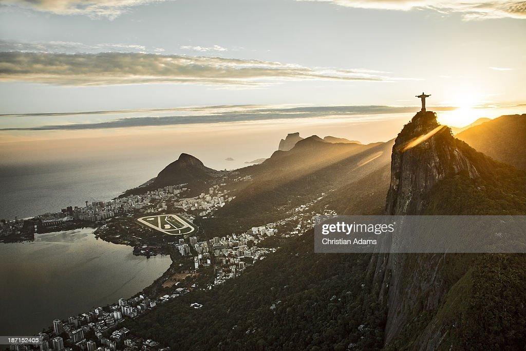 Rio de Janeiro, Corovado at sunset