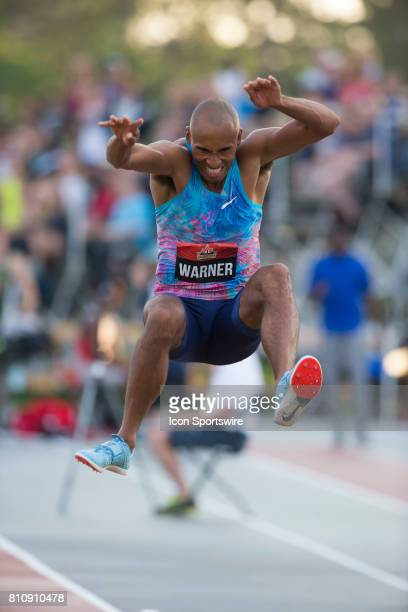 Rio de Janeiro Olympic decathlon bronze medalist leaping to victory in the long jump at the Canadian Track and Field Championships onJuly 07 2017 at...
