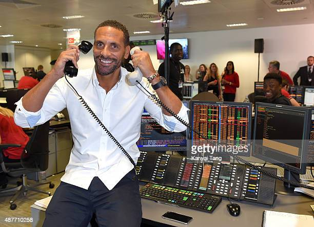 Rio Ferdinand attends the annual BGC Global Charity Day at BGC Partners on September 11 2015 in London England