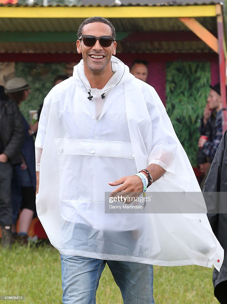 Rio Ferdinand attends the Glastonbury Festival at Worthy Farm, Pilton on June 26, 2015 in Glastonbury, England.