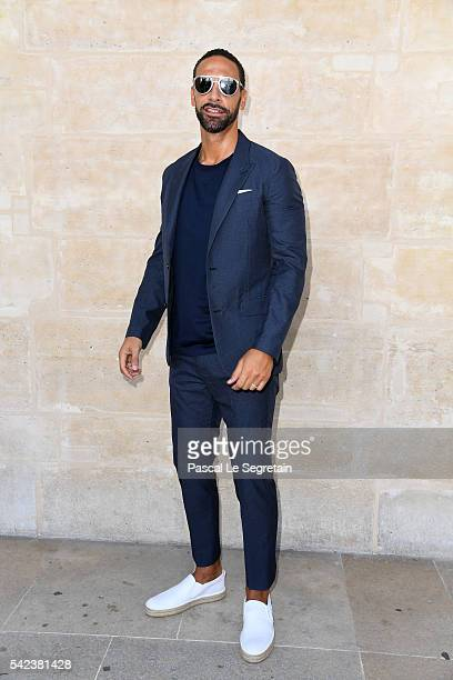 Rio Ferdinand attends the Louis Vuitton Menswear Spring/Summer 2017 show as part of Paris Fashion Week on June 23 2016 in Paris France