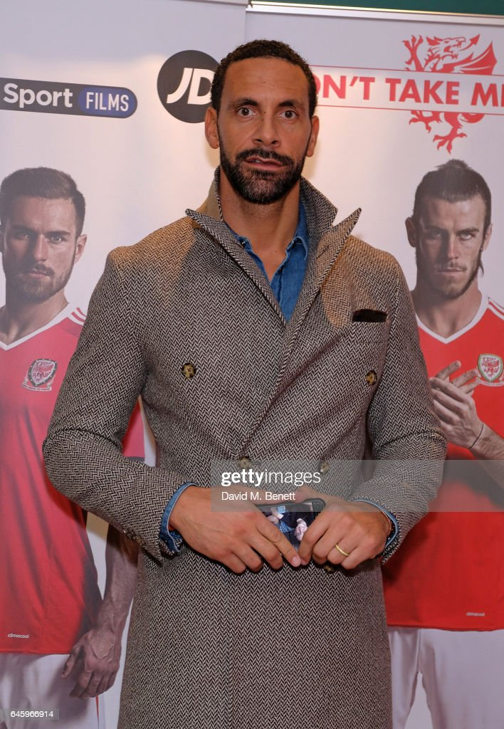 Rio Ferdinand attends the UK Premiere of 'Don't Take Me Home' on February 27, 2017 in London, England.