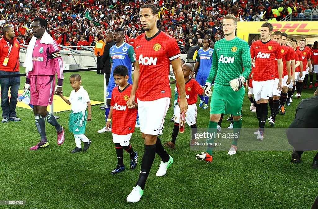 Rio Ferdinand during the MTN Football Invitational match between Amazulu and Manchester United from Moses Mabhida Stadium on July 18, 2012 in Durban, South Africa