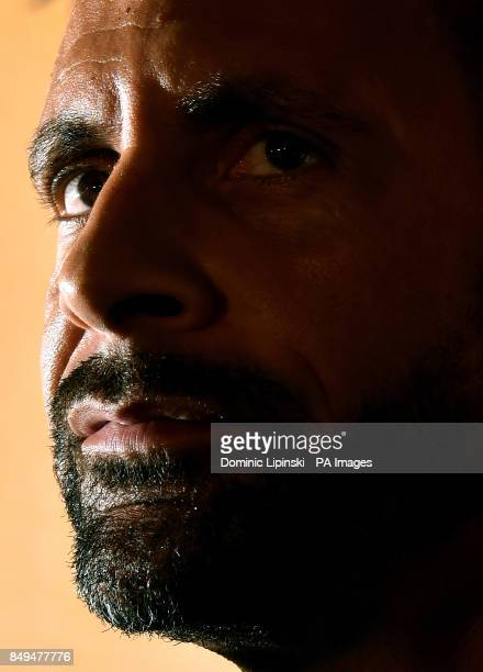 Rio Ferdinand during the press conference at York Hall London PRESS ASSOCIATION Photo Picture date Tuesday September 19 2017 Former England captain...