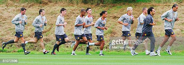 Rio Ferdinand Fitness Coach Valter Di Salvo Phillip Bardsley Alan Smith Kieran Richardson Chris Eagles David Bellion David Jones Liam Miller and Roy...
