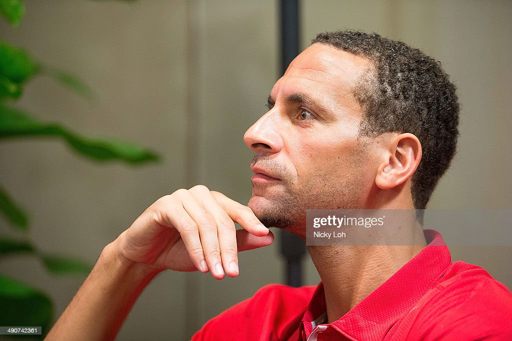 Rio Ferdinand of Manchester United attends a press conference on May 15, 2014 in Singapore.