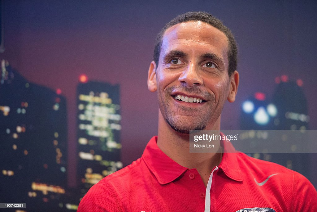 <a gi-track='captionPersonalityLinkClicked' href=/galleries/search?phrase=Rio+Ferdinand&family=editorial&specificpeople=157538 ng-click='$event.stopPropagation()'>Rio Ferdinand</a> of Manchester United attends a press conference on May 15, 2014 in Singapore.