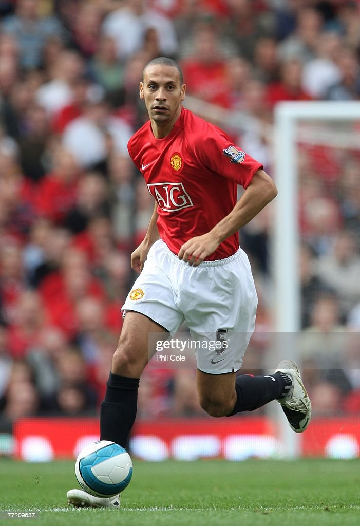 Rio Ferdinand of Manchester United during the Barclays Premier League match between Manchester United and Wigan Athletic at Old Trafford on October 06, 2007 in Manchester, England.