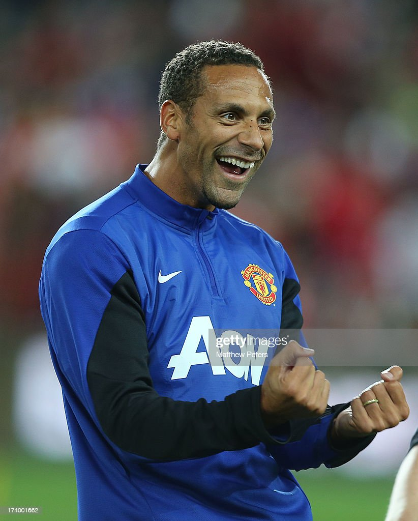 <a gi-track='captionPersonalityLinkClicked' href=/galleries/search?phrase=Rio+Ferdinand&family=editorial&specificpeople=157538 ng-click='$event.stopPropagation()'>Rio Ferdinand</a> of Manchester United in action during a first team training session as part of their pre-season tour of Bangkok, Australia, China, Japan and Hong Kong on July 19, 2013 in Sydney, Australia.