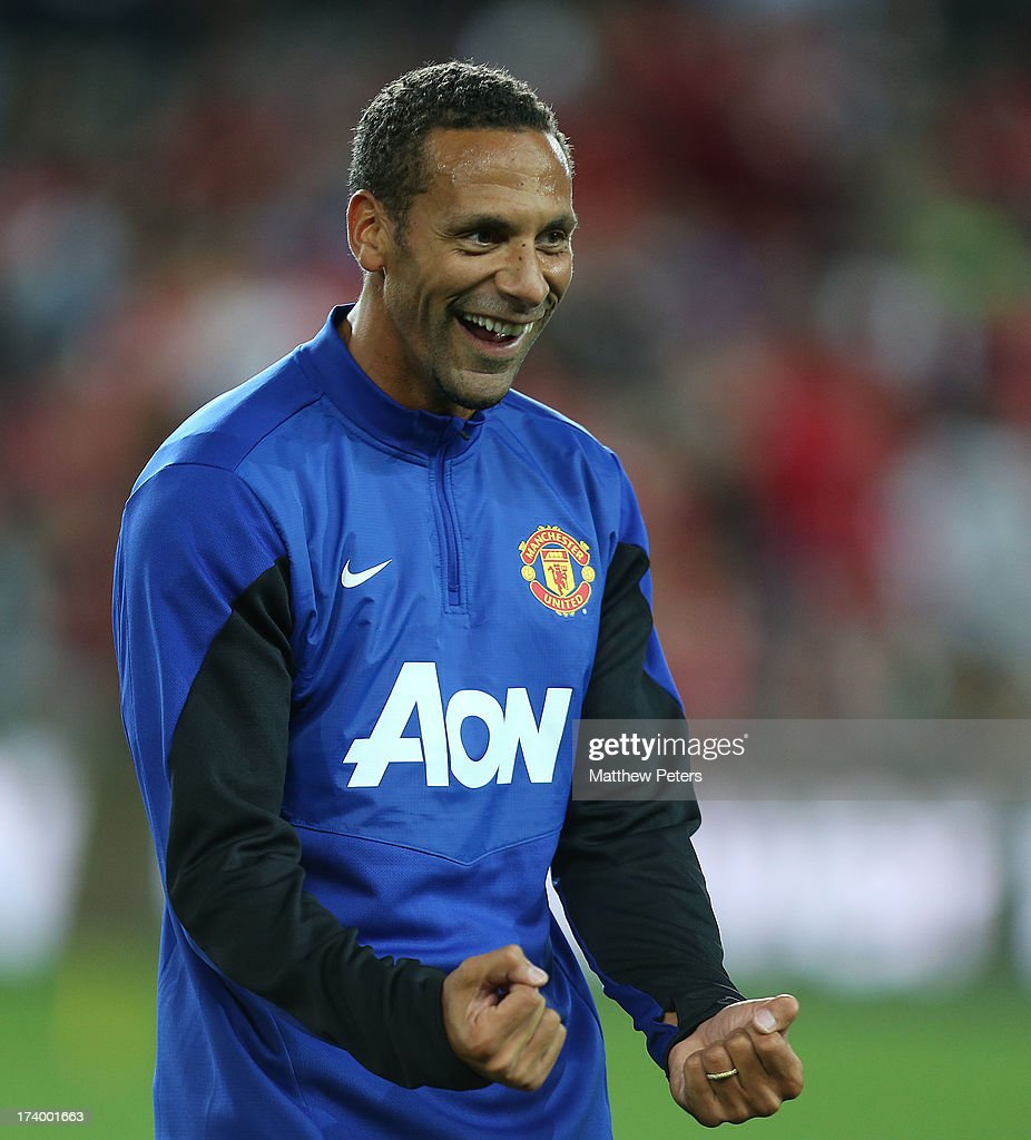 Rio Ferdinand of Manchester United in action during a first team training session as part of their pre-season tour of Bangkok, Australia, China, Japan and Hong Kong on July 19, 2013 in Sydney, Australia.