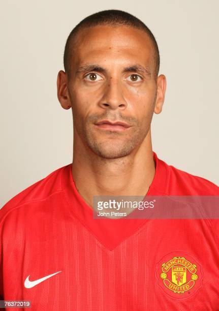 Rio Ferdinand of Manchester United poses during the club's annual preseason photocall at Carrington Training Ground on August 17 2007 in Manchester...