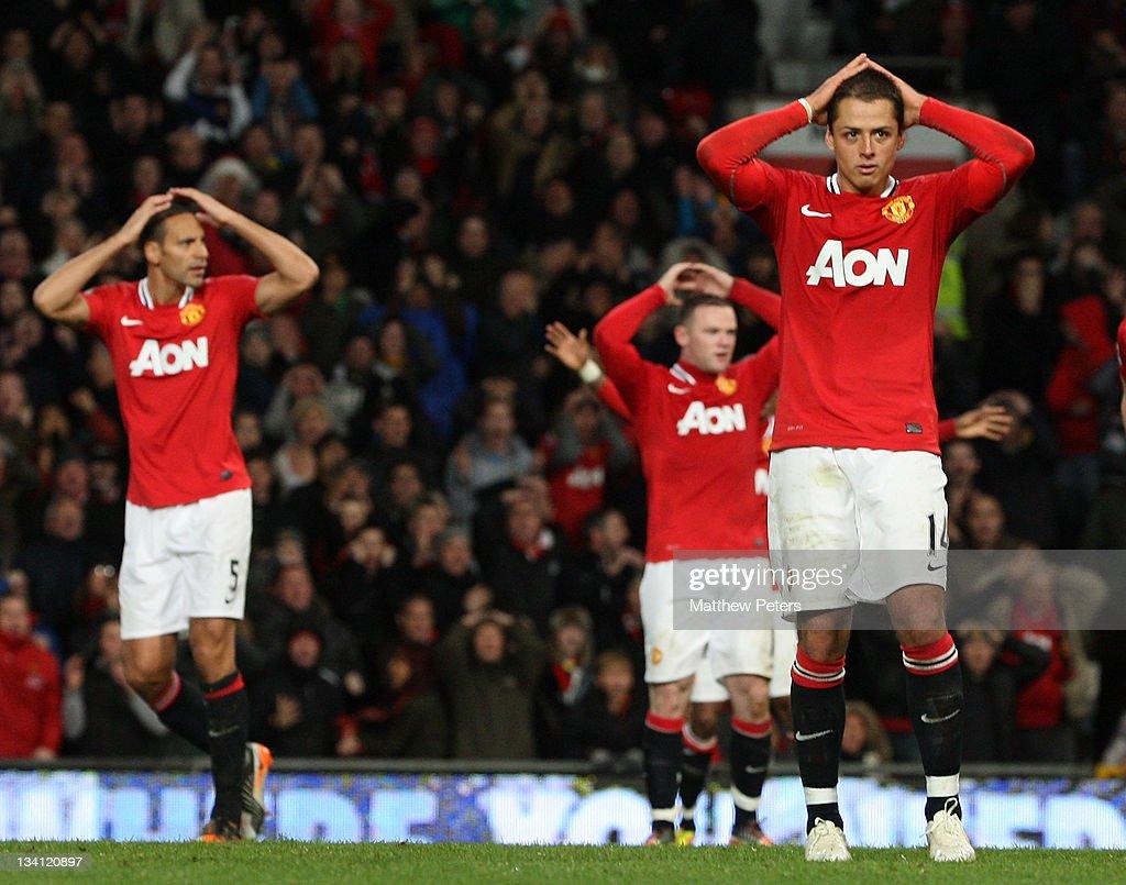 Rio Ferdinand, Wayne Rooney amd Javier 'Chicharito ...