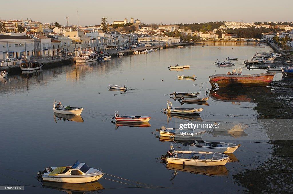 Rio Gilao fisherboats Tavira Algarve Portugal