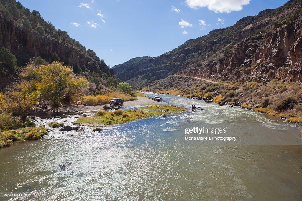 Rio Grande in Arroyo Hondo, New Mexico