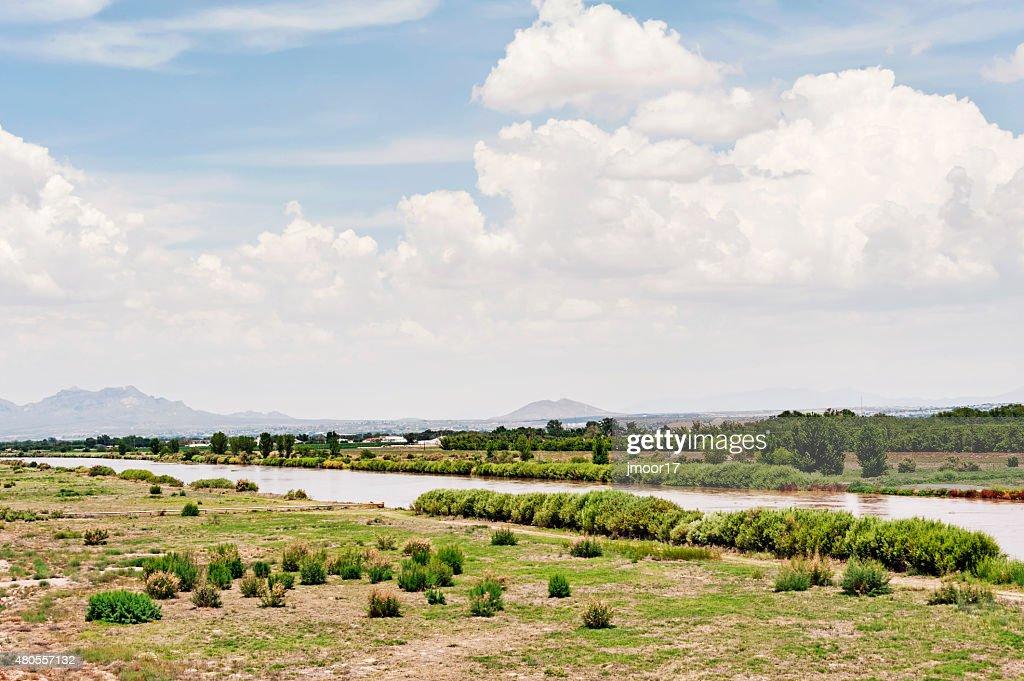 Rio Grande River Las Cruces New Mexico : Stock Photo