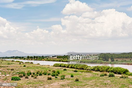Rio Grande River Las Cruces New Mexico : Stock Photo