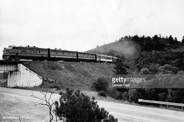 Rio Grande Zephyr heads into the foothills from Denver enroute to Salt Lake City on one of its thrice weekly runs Credit Denver Post
