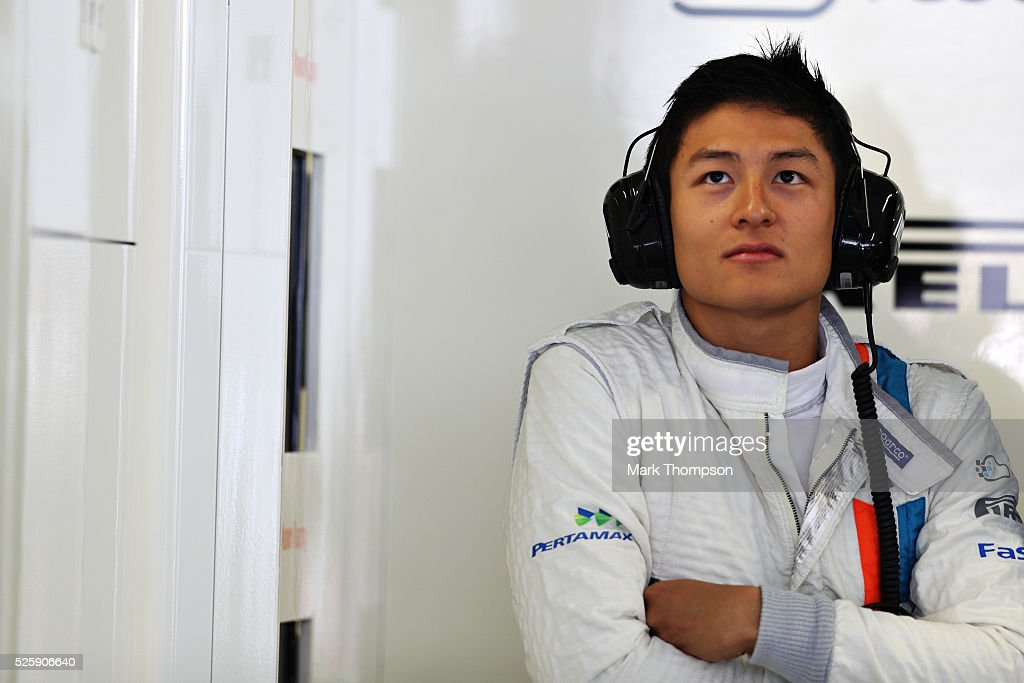 <a gi-track='captionPersonalityLinkClicked' href=/galleries/search?phrase=Rio+Haryanto&family=editorial&specificpeople=15106151 ng-click='$event.stopPropagation()'>Rio Haryanto</a> of Indonesia and Manor Racing in the garage during practice for the Formula One Grand Prix of Russia at Sochi Autodrom on April 29, 2016 in Sochi, Russia.