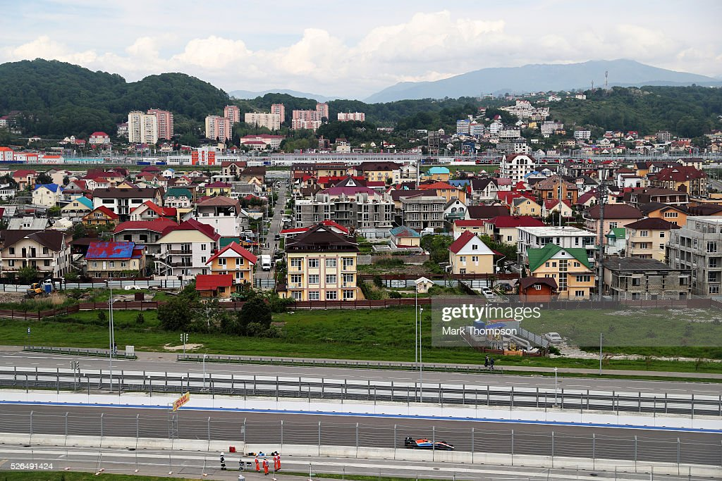 <a gi-track='captionPersonalityLinkClicked' href=/galleries/search?phrase=Rio+Haryanto&family=editorial&specificpeople=15106151 ng-click='$event.stopPropagation()'>Rio Haryanto</a> of Indonesia driving the (88) Manor Racing MRT-Mercedes MRT05 Mercedes PU106C Hybrid turbo on track during final practice ahead of the Formula One Grand Prix of Russia at Sochi Autodrom on April 30, 2016 in Sochi, Russia.