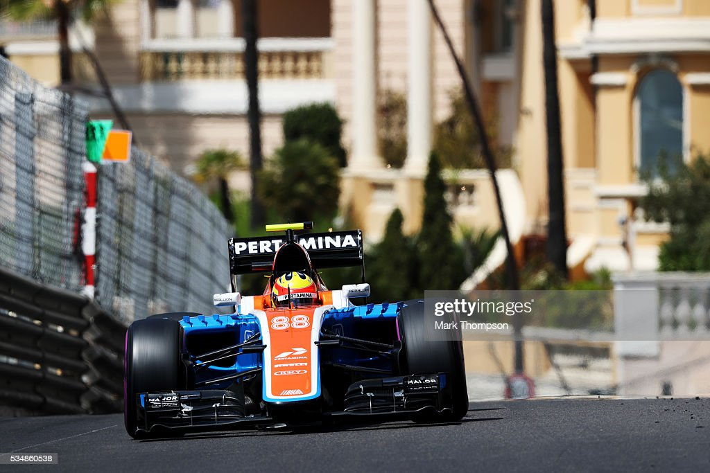 <a gi-track='captionPersonalityLinkClicked' href=/galleries/search?phrase=Rio+Haryanto&family=editorial&specificpeople=15106151 ng-click='$event.stopPropagation()'>Rio Haryanto</a> of Indonesia driving the (88) Manor Racing MRT-Mercedes MRT05 Mercedes PU106C Hybrid turbo on track during final practice ahead of the Monaco Formula One Grand Prix at Circuit de Monaco on May 28, 2016 in Monte-Carlo, Monaco.