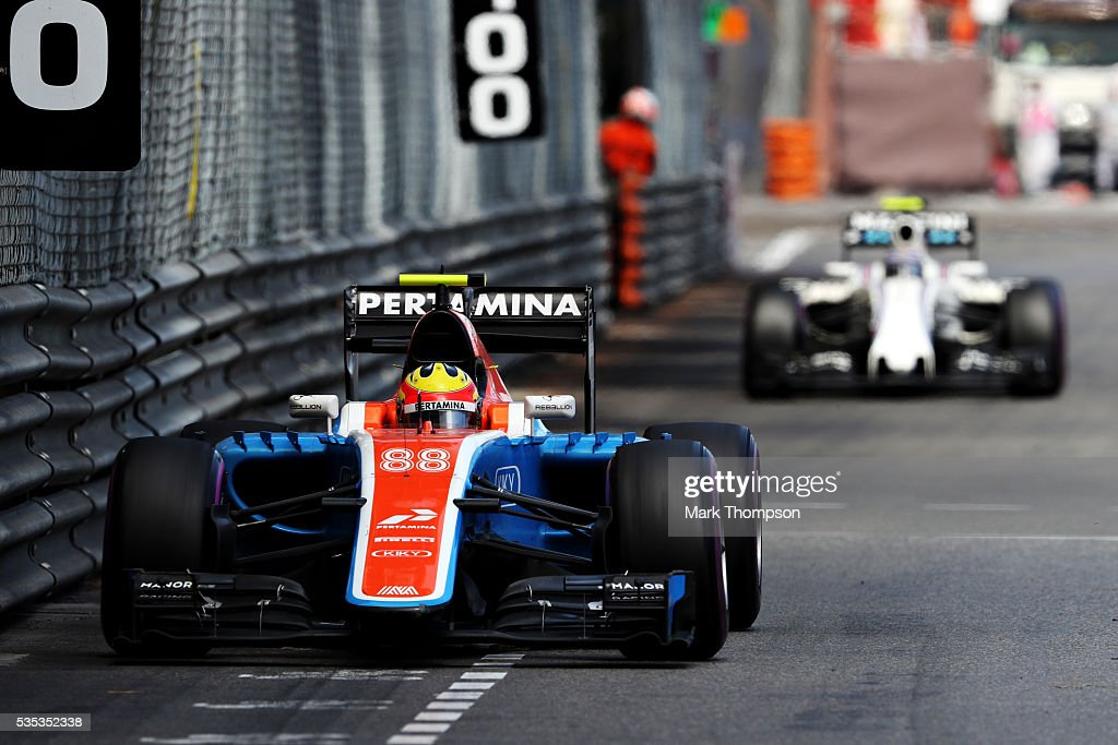 <a gi-track='captionPersonalityLinkClicked' href=/galleries/search?phrase=Rio+Haryanto&family=editorial&specificpeople=15106151 ng-click='$event.stopPropagation()'>Rio Haryanto</a> of Indonesia driving the (88) Manor Racing MRT-Mercedes MRT05 Mercedes PU106C Hybrid turbo on track during the Monaco Formula One Grand Prix at Circuit de Monaco on May 29, 2016 in Monte-Carlo, Monaco.