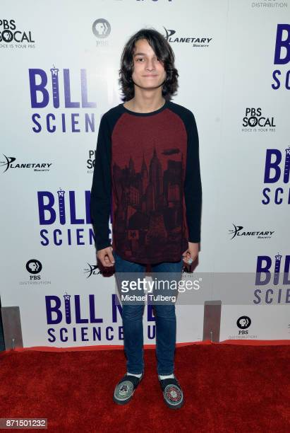 Rio Mangini attends the Los Angeles Premiere of 'Bill Nye Science Guy' at Westside Pavilion on November 7 2017 in Los Angeles California