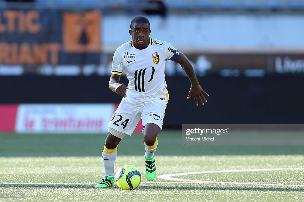 Rio Mavuba of Lille during the French Ligue 1 match between Fc Lorient and Lille OSC at Stade du Moustoir on April 30 2016 in Lorient France