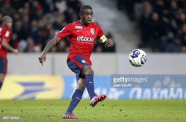Rio Mavuba of Lille in action during the French League Cup match between Lille OSC and Paris SaintGermain at Grand Stade Pierre Mauroy on February 3...