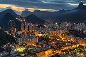 Rio night sunset