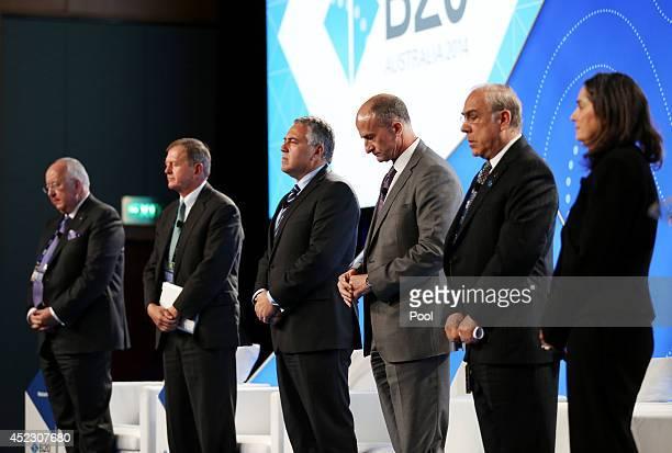 Rio Tinto CEO Sam Walsh SEB Chairman Marcus Wallenberg Treasurer of Australia Joe Hockey GE Global Growth and Operations CEO John Rice OECD...