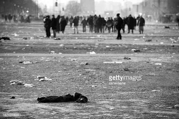 Riot Verwüstung Menschenmassen, Washington, DC
